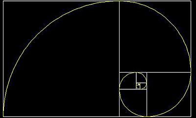 Golden Spiral. Fibonacci.