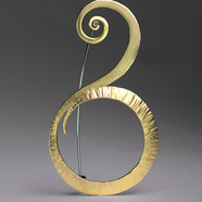 Forged Brass Pin with Sterling Dot