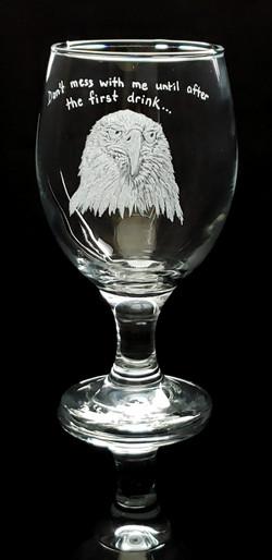 eagle stout/drink glass