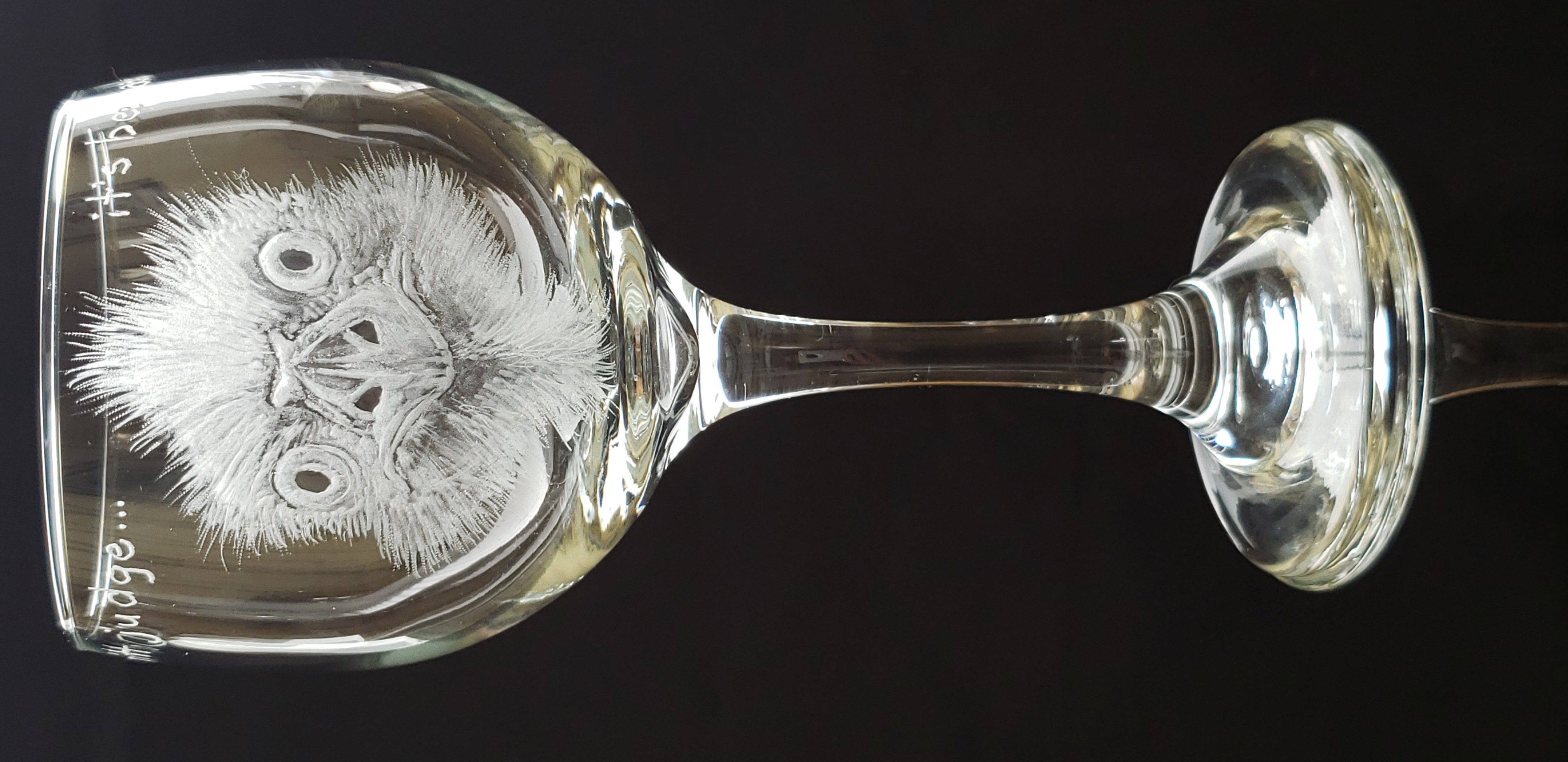 ostrich wine glass