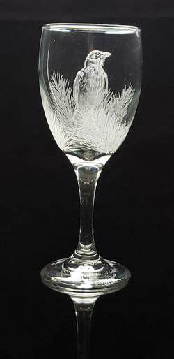 crow wine glass