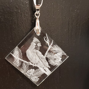 small crystal ornament