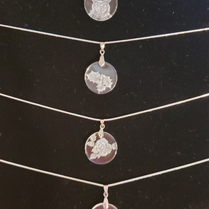 round glass necklaces