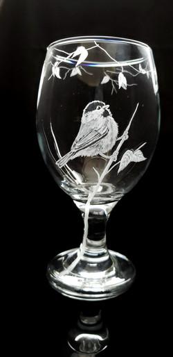 chickadee stout/drink glass