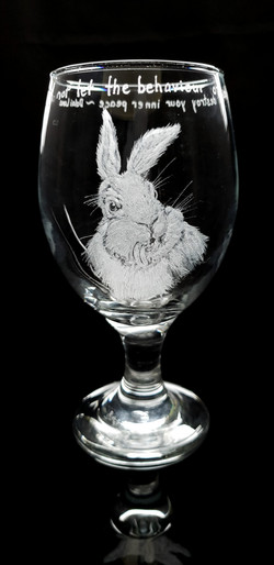 bunny stout/drink glass