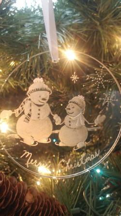Christmas ornament, snowmen