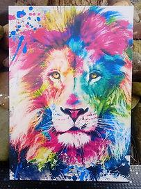 Leão Aquarelado