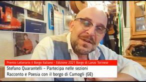 Stefano Quarantelli per Camogli su Premio Letterario il Borgo Italiano TV