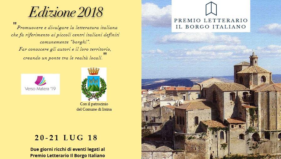 Premio Letterario il Borgo Italiano 2018