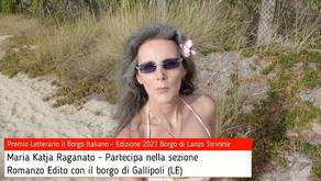 Maria Katja Raganato per Gallipoli su Premio Letterario il Borgo Italiano TV