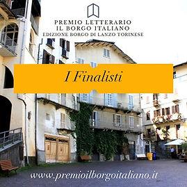 I finalisti del Premio Letterario il Borgo Italiano 2021