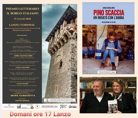 Anna Raviglione e il libro su Pino Scaccia agli eventi del Premio Letterario il Borgo Italiano 2021