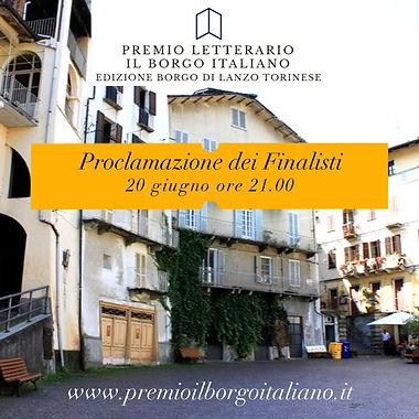 Proclamazione dei finalisti del Premio Letterario il Borgo Italiano 2021