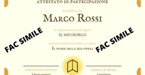 Al via la consegna dei certificati di partecipazione al Premio Letterario il Borgo Italiano