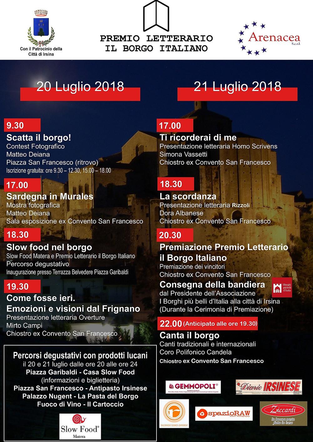 Eventi Premio Letterario il Borgo Italiano 2018