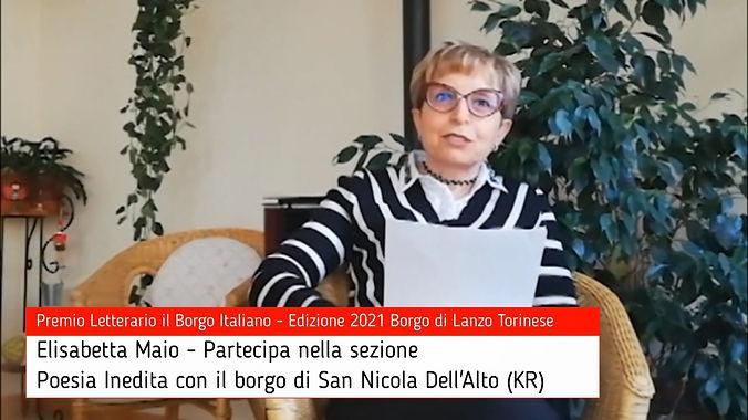 Elisabetta Maio per San Nicola Dell'Alto su Premio Letterario il Borgo Italiano TV
