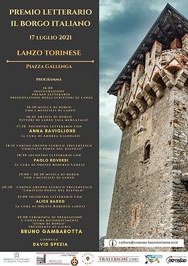 Gli eventi del Premio Letterario il Borgo Italiano 2021 Borgo di Lanzo Torinese