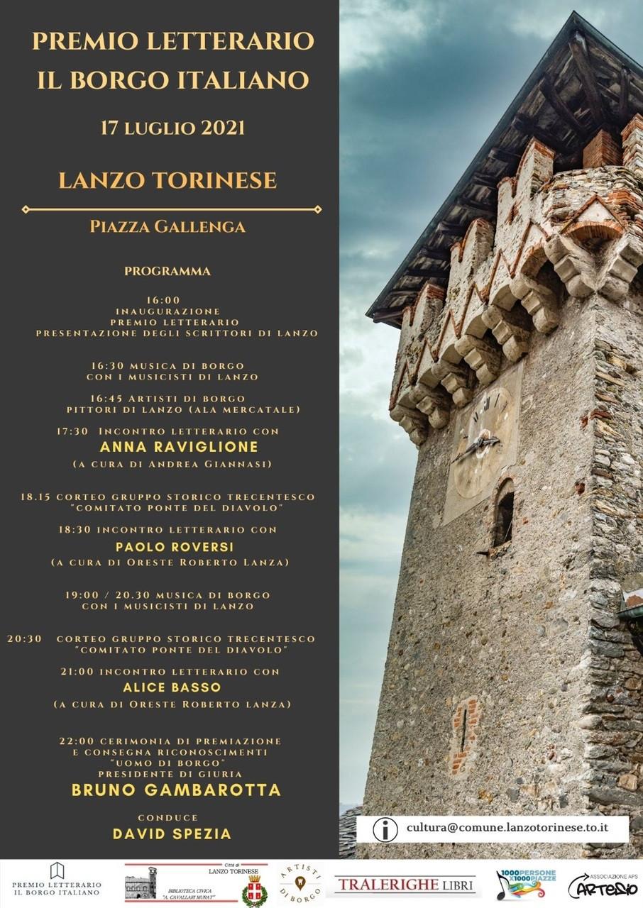Eventi Premio Letterario il Borgo Italiano 2021 Edizione Borgo di Lanzo Torinese