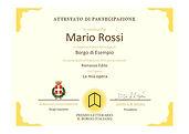 Invio degli attestati di partecipazione al Premio Letterario il Borgo Italiano 2021