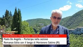 Paolo De Angelis commenta Montenero Sabino su Premio Letterario il Borgo Italiano TV