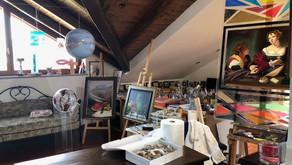 Gli Artisti di Borgo di Lanzo Torinese per i premi dei vincitori dell'edizione 2021
