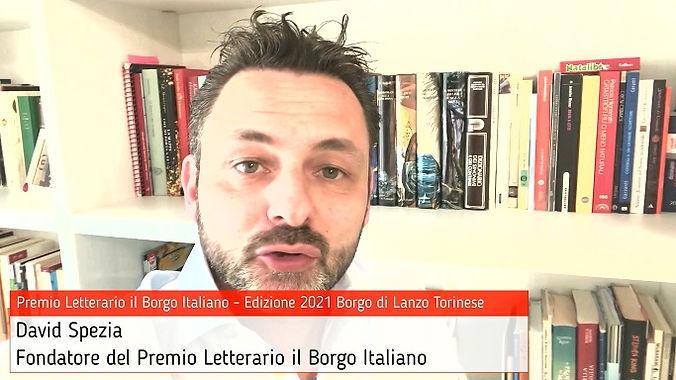 David Spezia presenta gli eventi del Premio Letterario il Borgo Italiano 2021