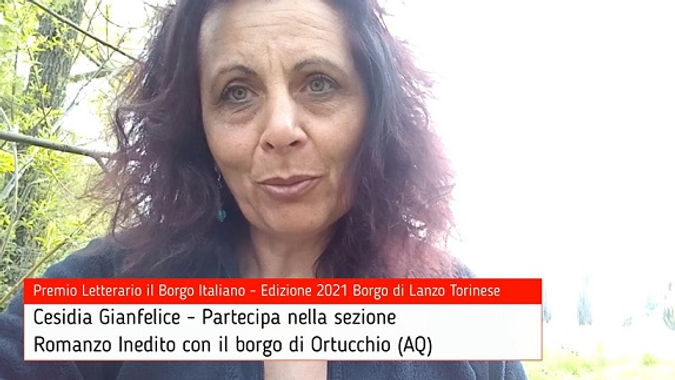 Cesidia Gianfelice per Ortucchio su Premio Letterario il Borgo Italiano TV