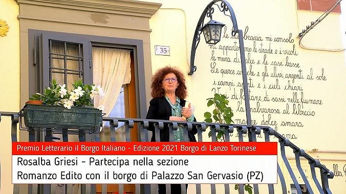 Rosalba Griesi per Palazzo San Gervasio su Premio Letterario il Borgo Italiano TV