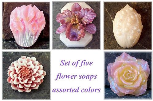 Flower Garden Set of 5 Soaps
