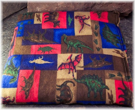 Extra Large Cherry Pit Heat Pack Dinosaur Flannel