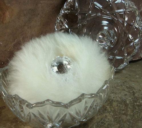 Glass Powder Dish Set with Handmade Puff