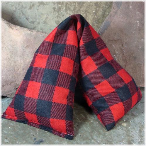 Red & Black Lumberjack Plaid  Flannel Cherry Pit Heat Pad