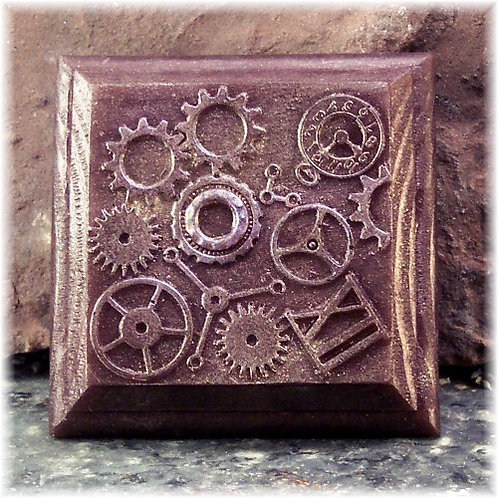 Steampunk Clockworks Themed Soap with Gears
