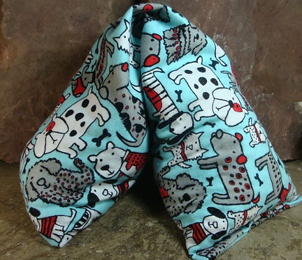 Puppy Dogs Flannel Microwave Heat Pad