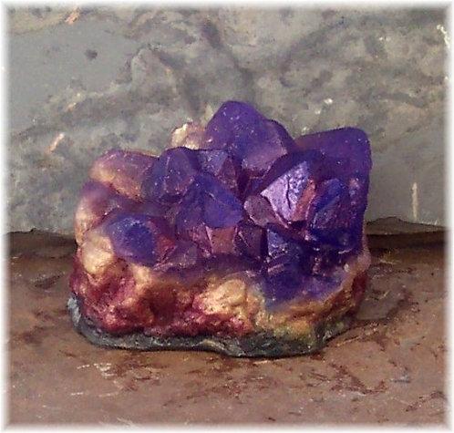 Amethyst Gemstone Soap Raw Crystal Geode Medium