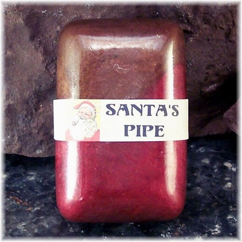 Santa's Pipe Glycerin Soap, Cherry Blend Tobacco Scent