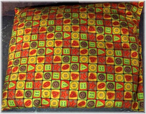 Cherry Pit Heat Pack Buttons Flannel Square Size