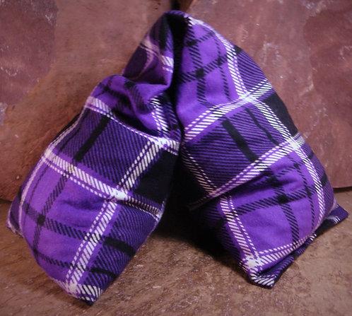 Purple Plaid Flannel Microwave Heat Wrap
