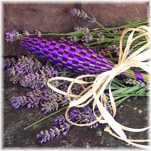 Handmade lavender wand