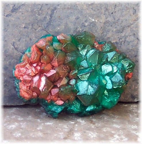 Emerald and Copper Raw Crystal Geode Soap