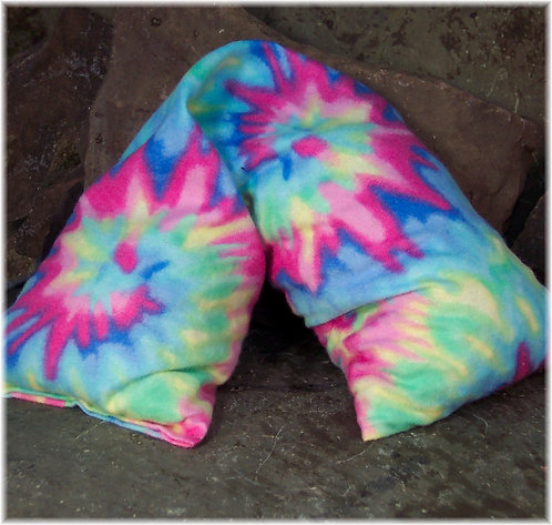 Natural Heat Wrap with Cherry Pits Tie Dye Flannel