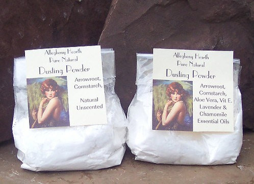 Natural Body Powder, Lavender or Unscented