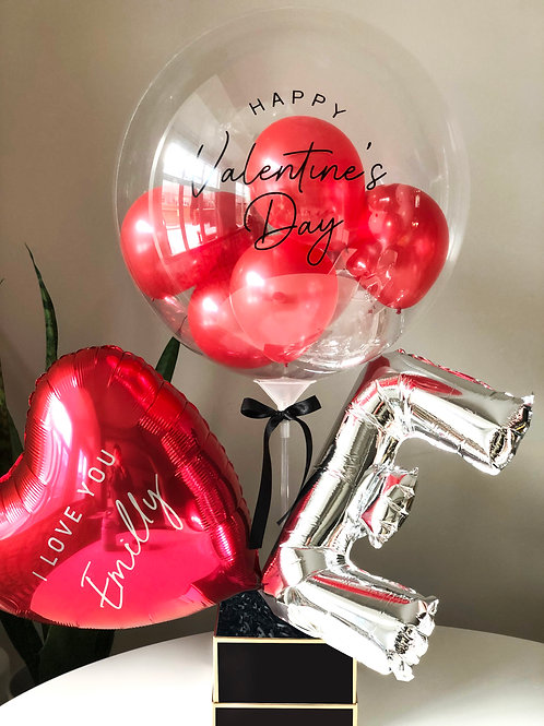 Valentine's Day Balloon Gift Box with Gourmet Sweets