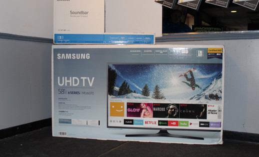 The TV Raffle Prize. Nice!
