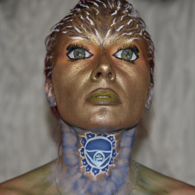 Inner Voice lies Within - Throat Chakra Creative Makeup