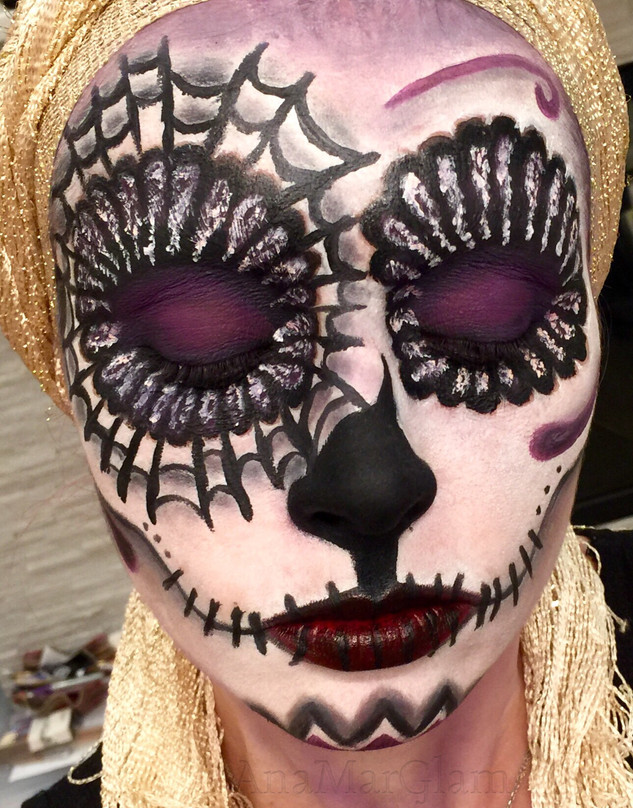Sugar Skull Halloween Creative Makeup