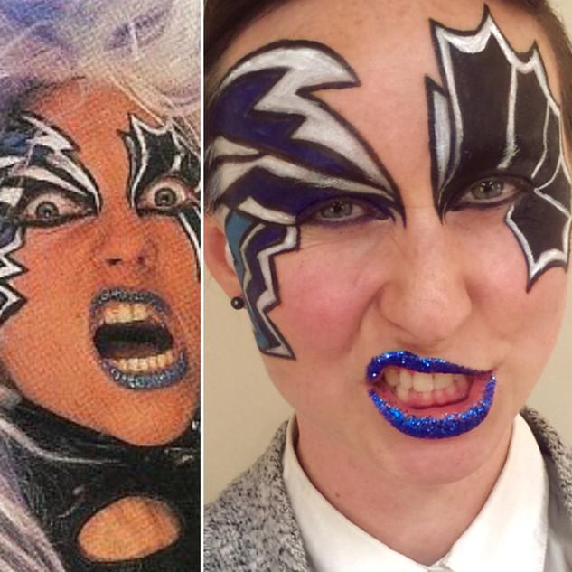 Spike - G.L.O.W. Heavy Metal Sisters Halloween Creative Makeup