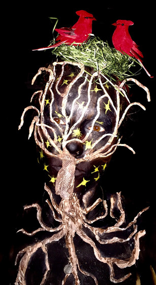 Tree and Birds nest Creative Makeup