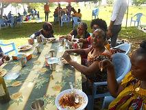 Le Caillou Blanc Première fête des familles déjeuner à Songon M'Brathé