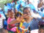 enfants du caillou blanc à la fête de Noël 2013 abidjan yopougon